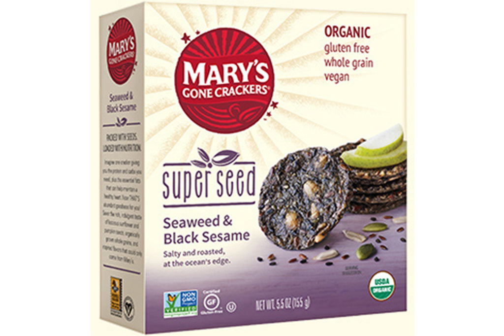 Super Seed Crackers (Seaweed & Black Sesame) - Mary's Gone Crackers