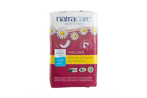 Maxi Pads Super 12 Pack - Natracare