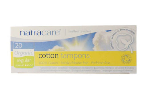 Cotton Tampons Regular 20 pack - Natracare
