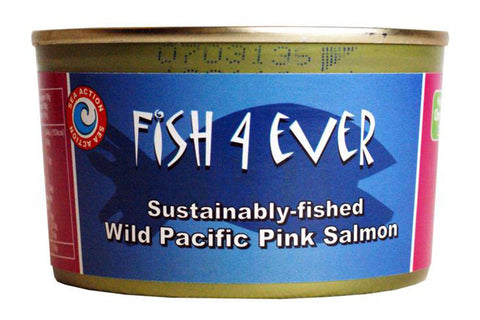 Sustainably-fished Wild Pacific Pink Salmon 213g - Fish 4 Ever