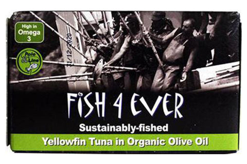Yellowfin Tuna in Organic Olive Oil 120g - Fish 4 Ever