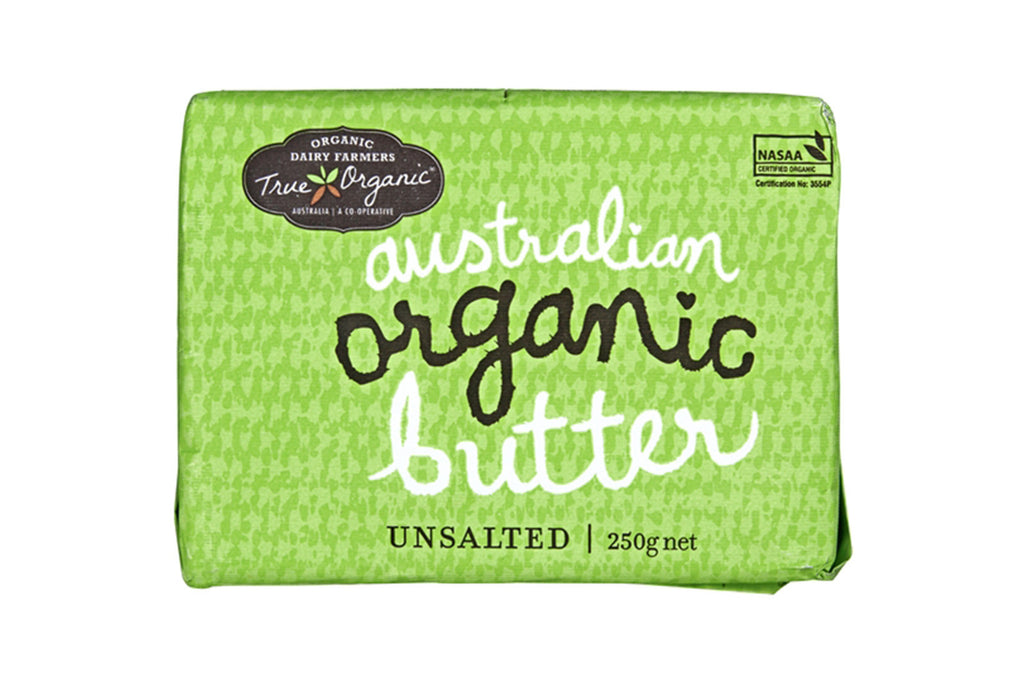 250g Unsalted Butter - True Organics