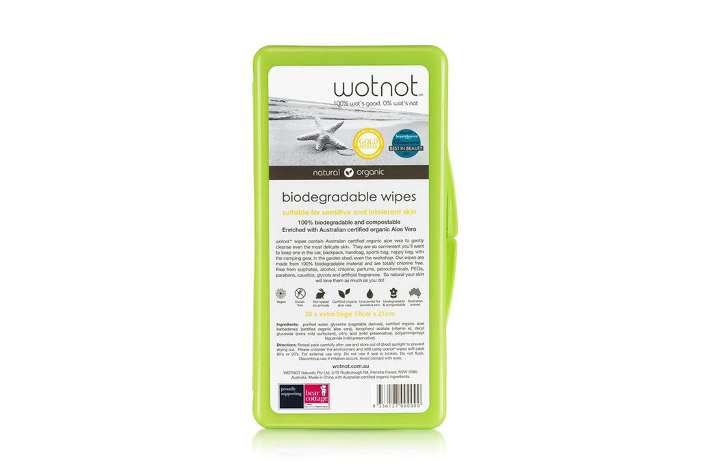 Biodegradable Wipes Travel Case - Wotnot