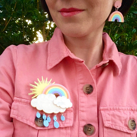 Dreamy Rainbow Brooch