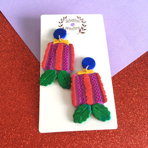 Red Banksia Dangles - Salvation Jewellery