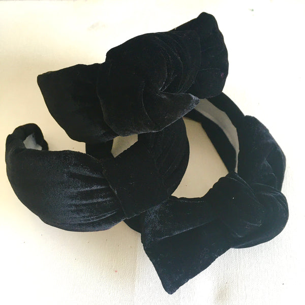 Black Velvet Headband - CHOOSE STYLE