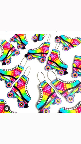 SKATER GIRLS Rainbow ~ Handmade Acrylic Drop Earrings