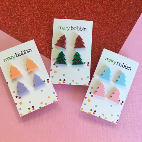 Tree Stud Pack 2 pr - CHOOSE COLOURWAY