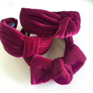 Raspberry Velvet Headband - CHOOSE STYLE