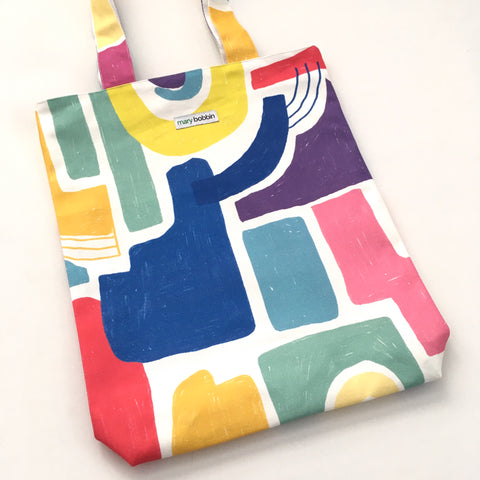 Electric Geometric  Tote Bag