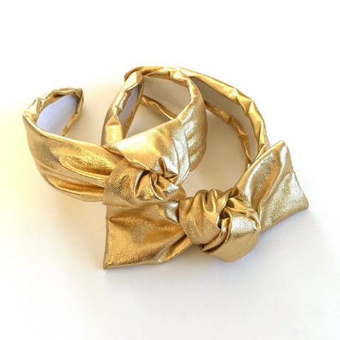 Gold Foil Headband Knot