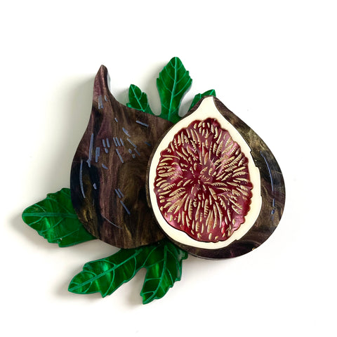 Fig Brooch