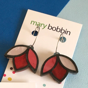 Tulip Hoops  - RED