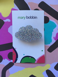 Glitter Cloud Brooch