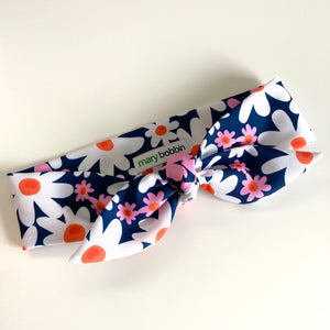Pretty Daisy Hair Tie - CHOOSE WITH OR WITHOUT WIRE
