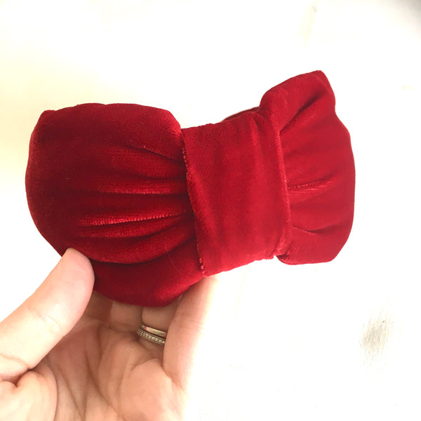 Red Velvet Headband - CHOOSE STYLE