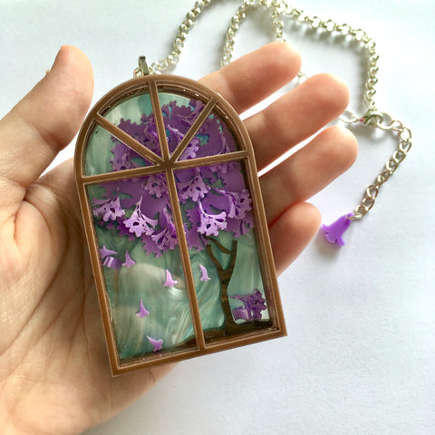 Jacaranda Tree Necklace