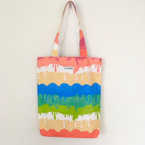 Rainbow Ice-cream Tote Bag
