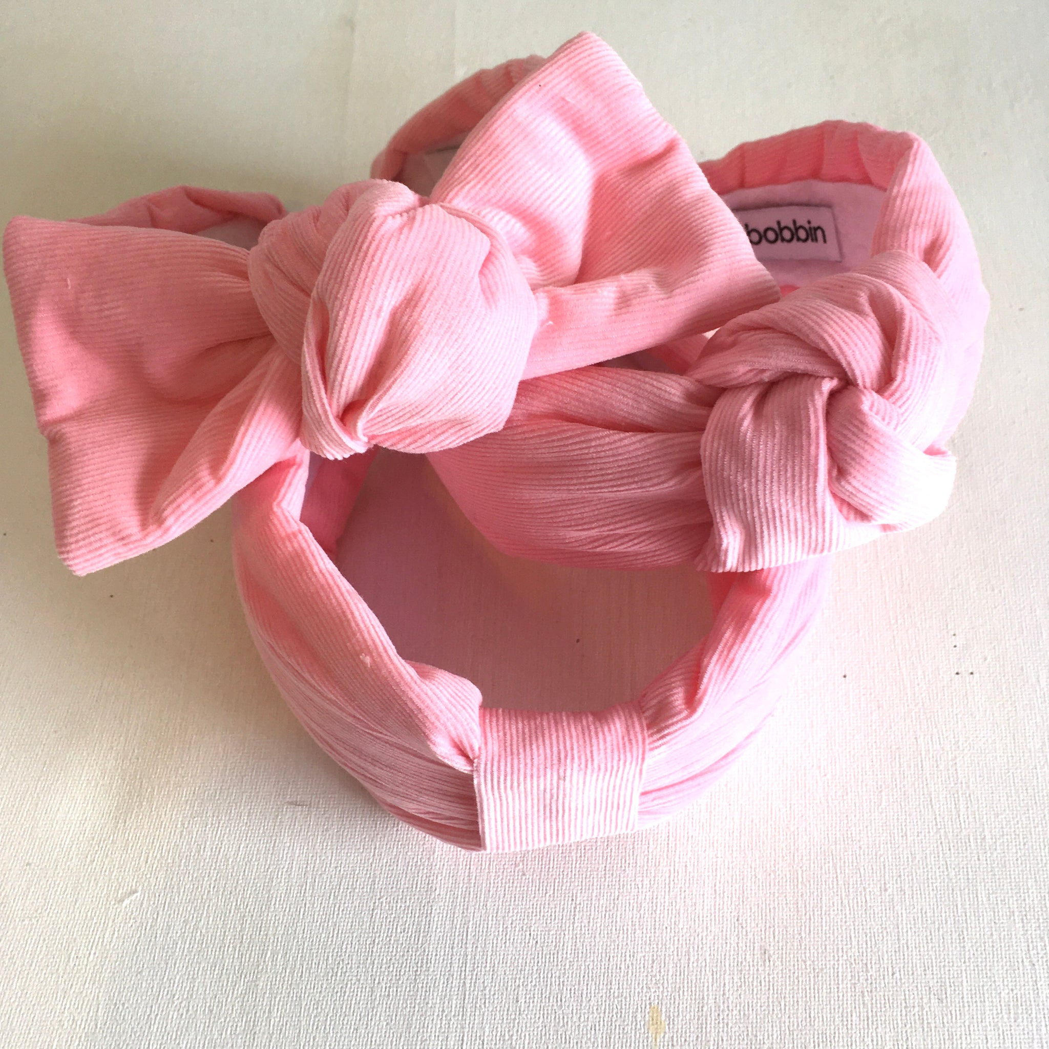 Baby Pink Cord- Bow
