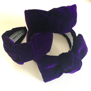 Blueberry Velvet Headband - CHOOSE STYLE