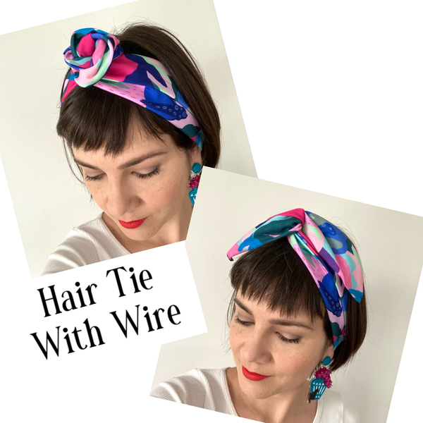 Coral Garden Hair Tie - CHOOSE WITH OR WITHOUT WIRE