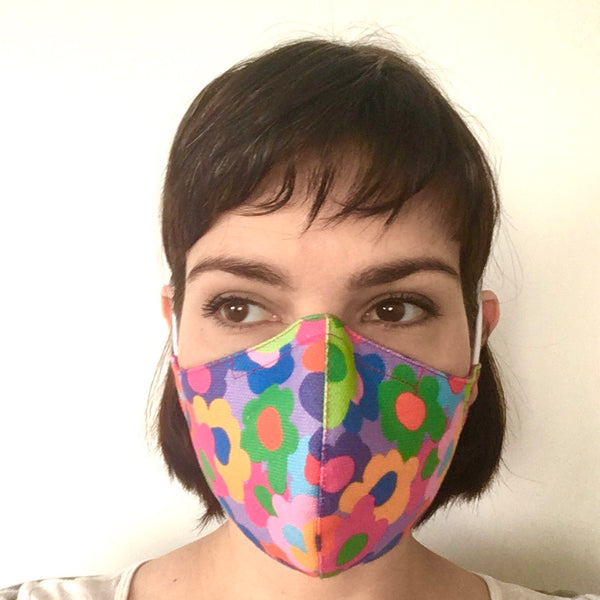 Face Mask - Royal/Black Print