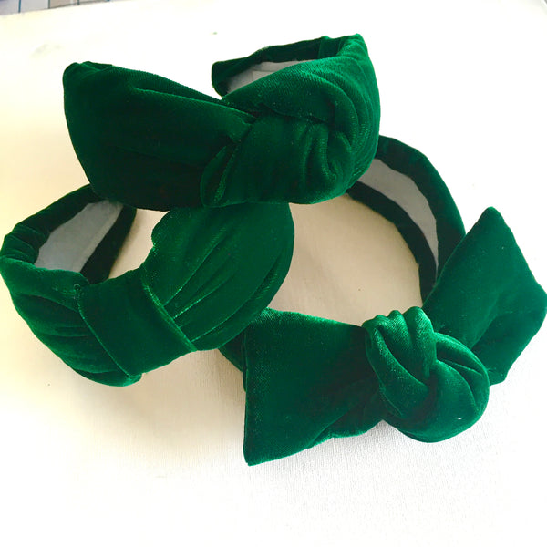 Emerald Velvet Headband - CHOOSE STYLE