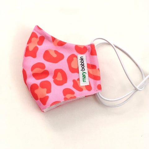 Face Mask - Pink Leopard