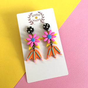 Floral Drops Dangles - Salvation Jewellery