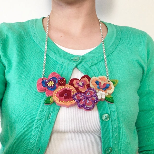 """Girtsquad"" Pansy Necklace - Choose Length"