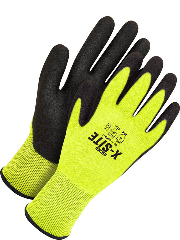Nitrile Foam Hi-Viz Dipped Synthetic Glove