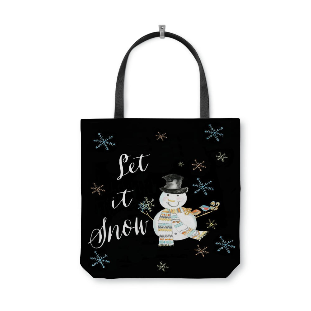 Let It Snow Tote Bag With Woven Handles - totes - Dreams After All