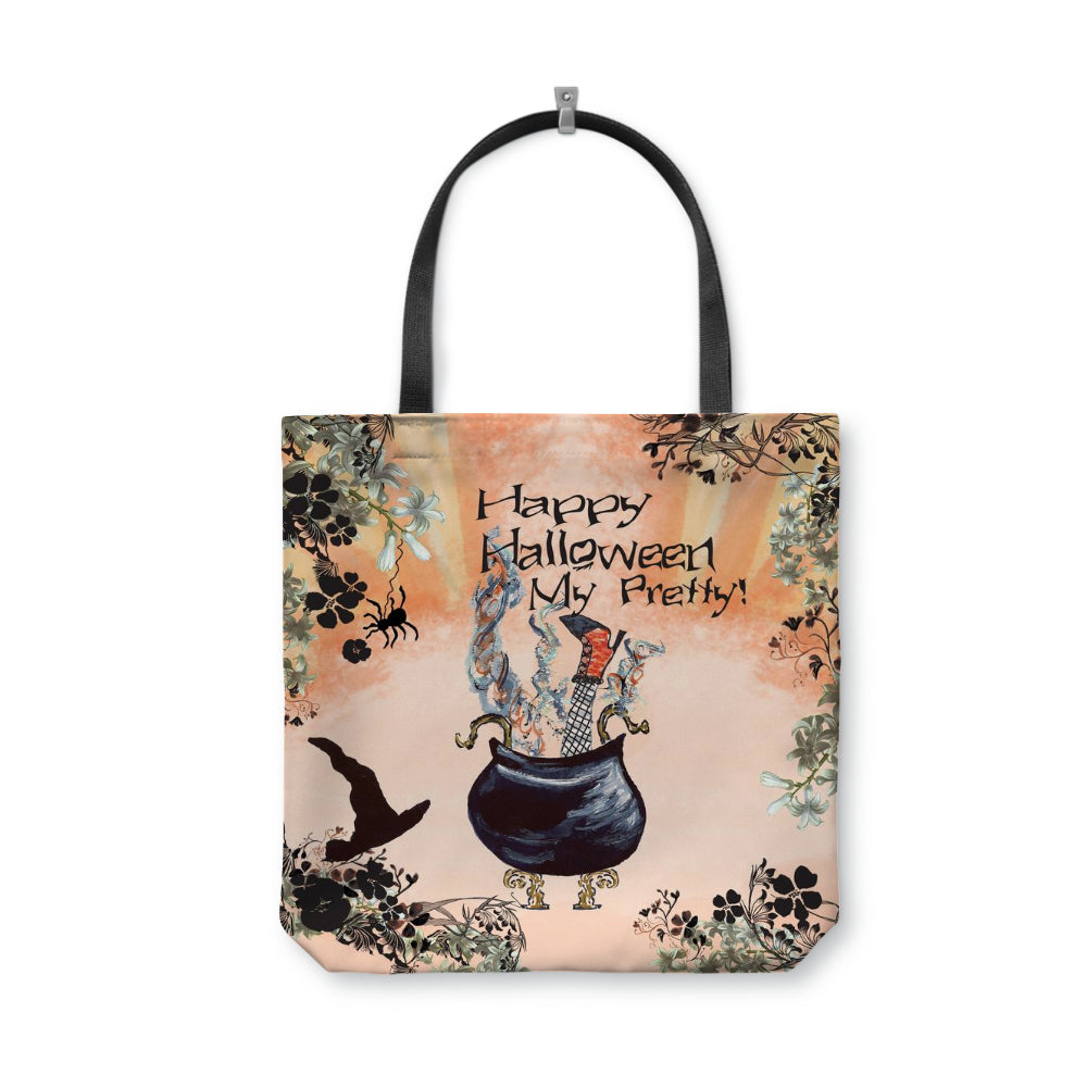 Happy Halloween My Pretty Tote Bag With Woven Handles - totes - Dreams After All