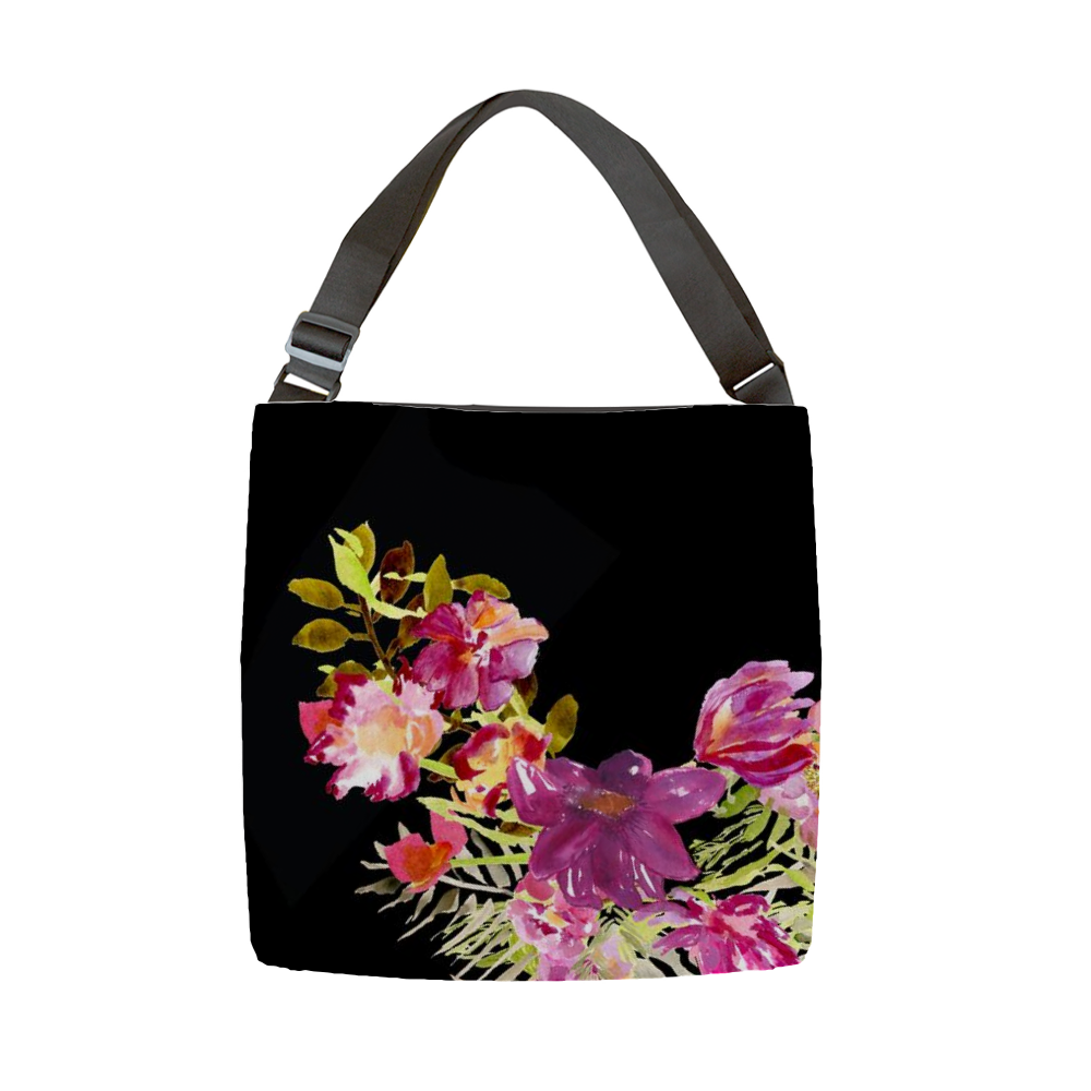 Renée Black Tote With Adjustable Handle - totes - Dreams After All