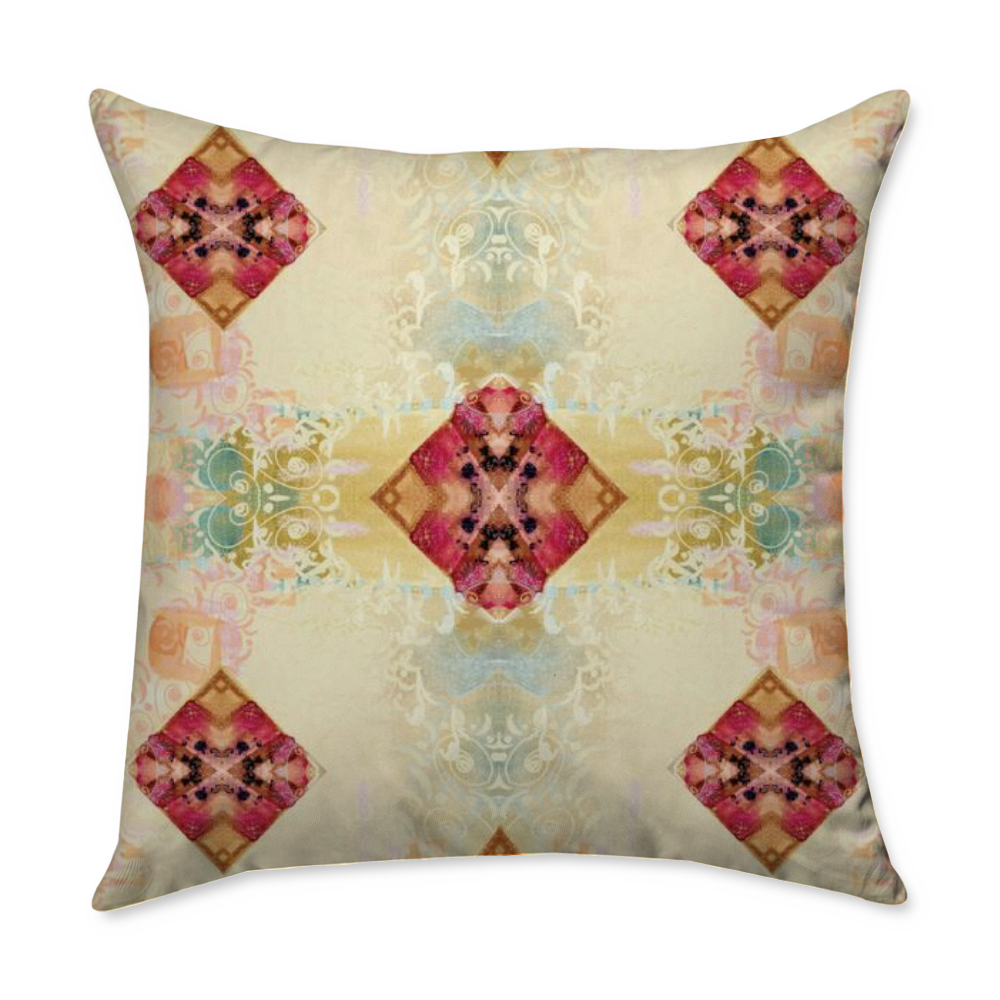 Square Throw Pillow - Spun Polyester - Blown and Closed - Dreams After All