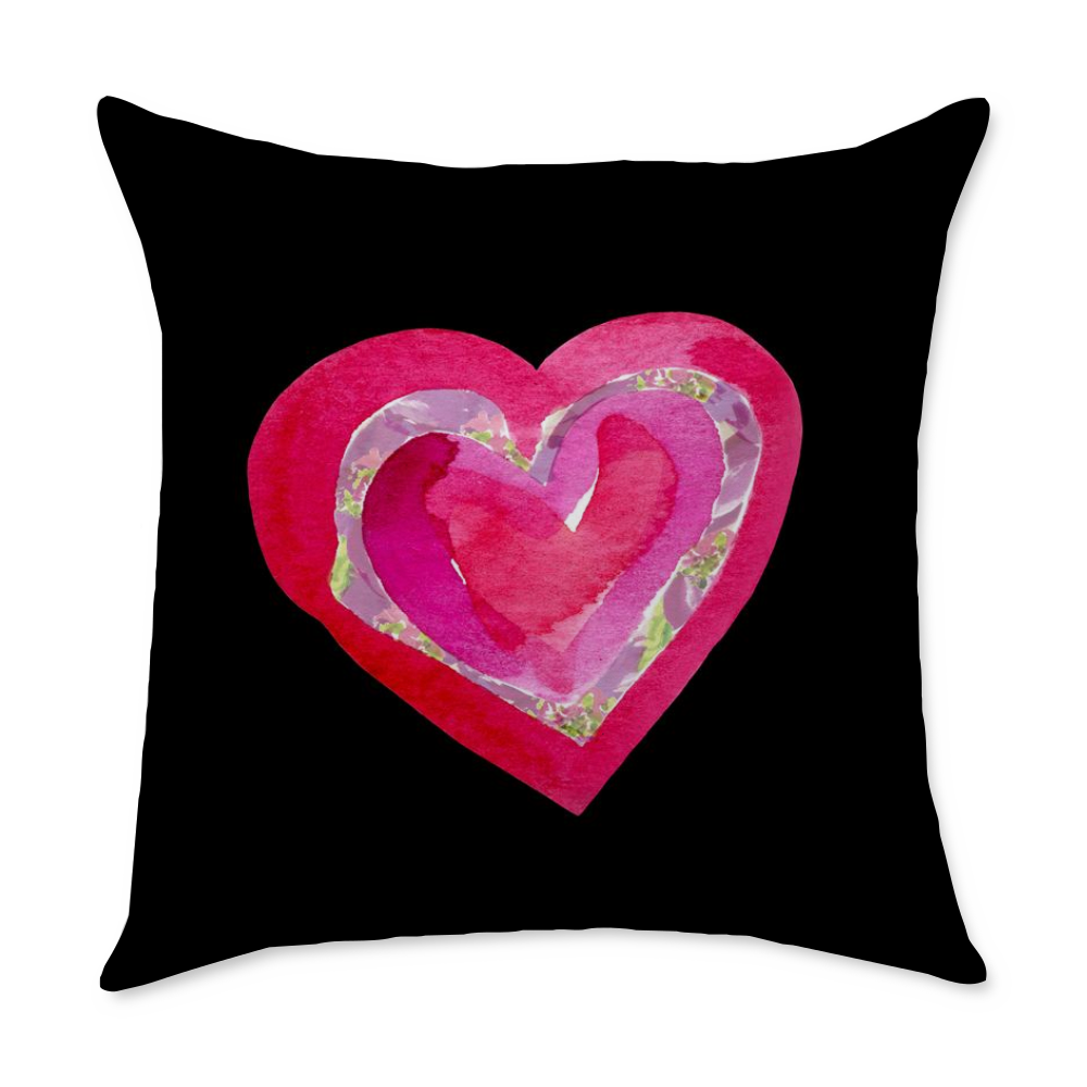 Stained Glass Heart Square Throw Pillow - COVER ONLY - Dreams After All