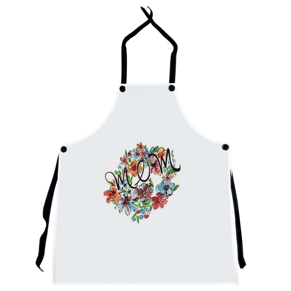 Mom's Bright Floral Apron - Apron - Dreams After All