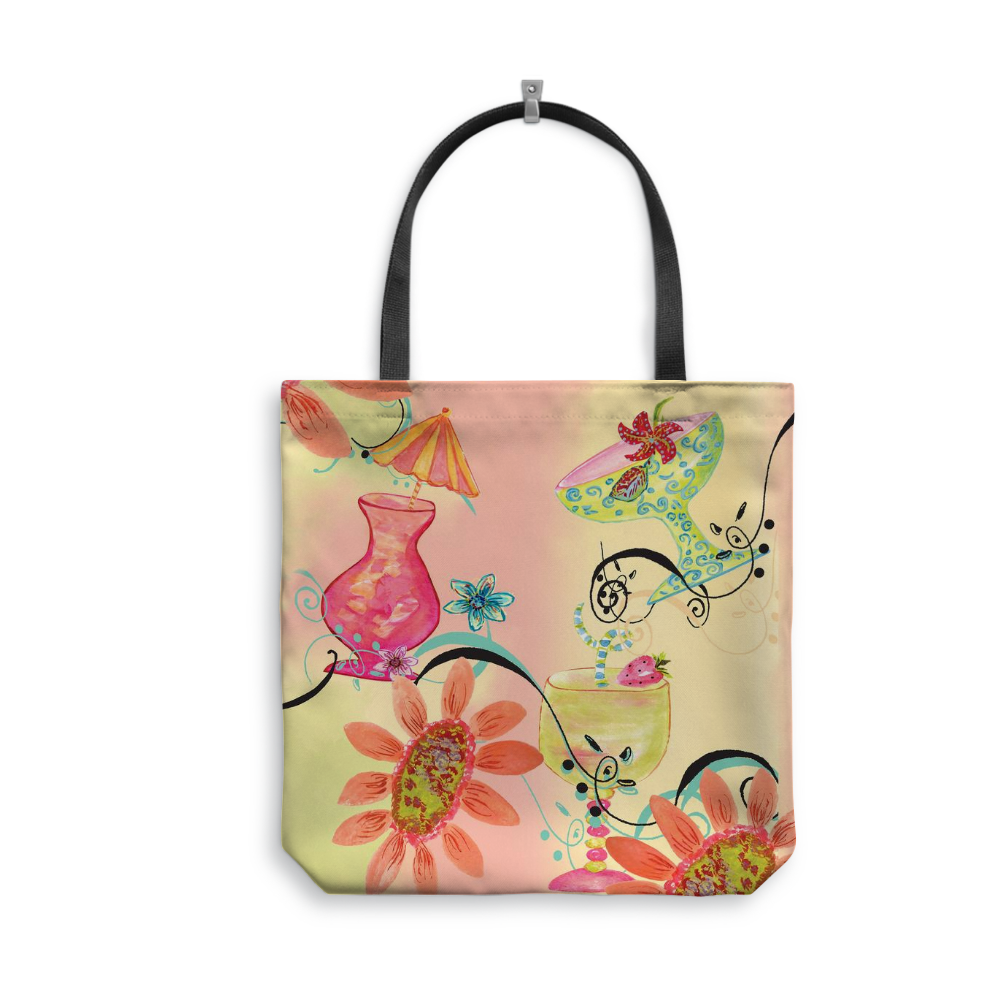 Five O'Clock Somewhere Tote Bag With Woven Handles - totes - Dreams After All