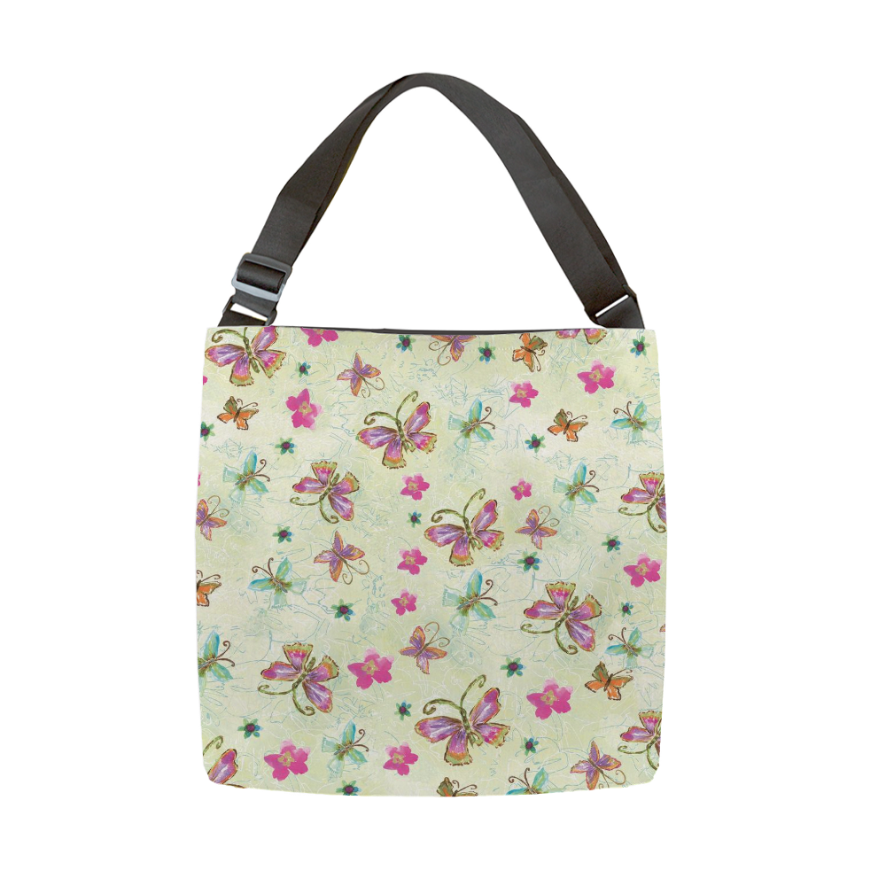 Four Butterfly Tote With Adjustable Handle - tote - Dreams After All