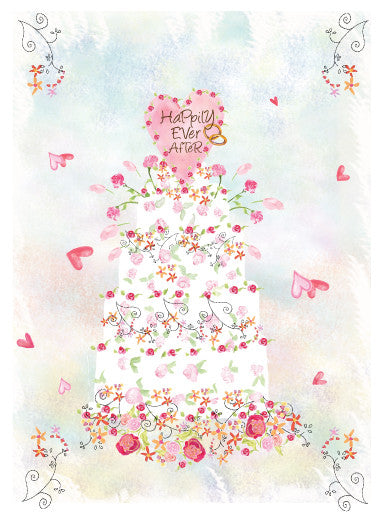Wedding Ring Cake Card - Dreams After All
