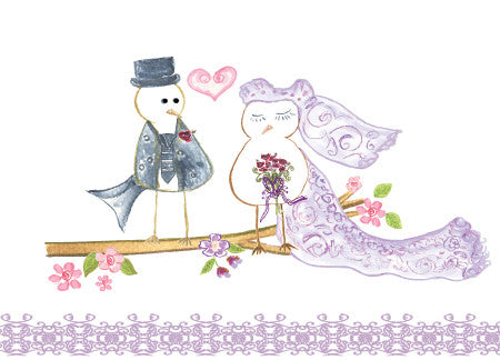 Wedding Love Birds Greeting Card