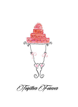 Wedding Together Forever Greeting Card