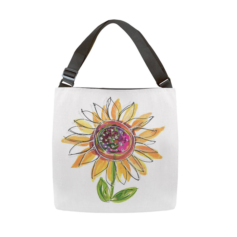 Sunflower Tote With Adjustable Woven Handle - Dreams After All