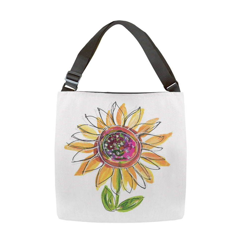 Sunflower Tote With Adjustable Handle - totes - Dreams After All