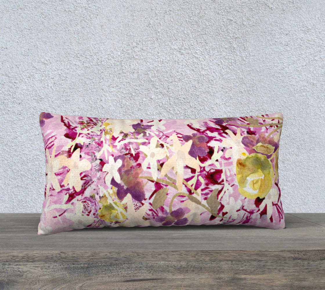 "Dahlilah Lavender 24"" X 12"" Pillow Case - Dreams After All"