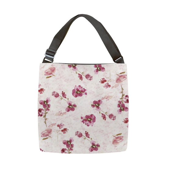 Spring Plum Tote With Adjustable Handle