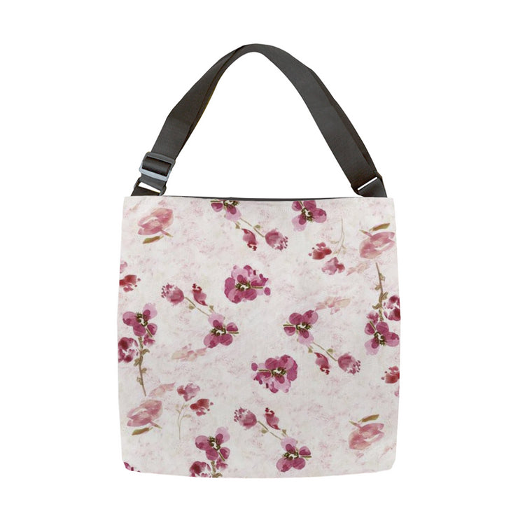 Spring Plum Tote With Adjustable Handle - tote - Dreams After All