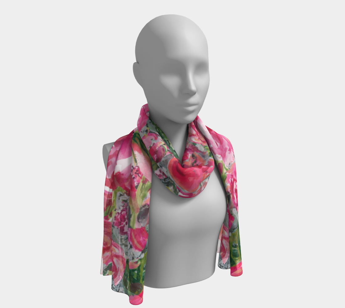 Love and Roses Long Scarf