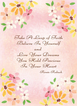 Blank Leap of Faith Card - Greeting Card - Dreams After All
