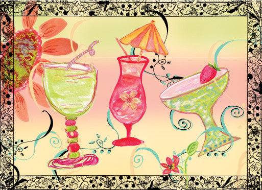 Blank Drinks - Greeting Card - Dreams After All